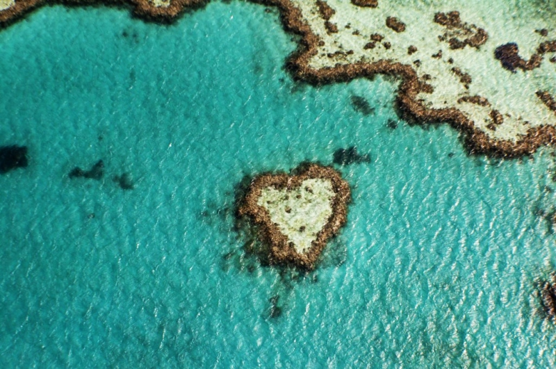 Heart Reef, The Great Barrier Reef, Australia