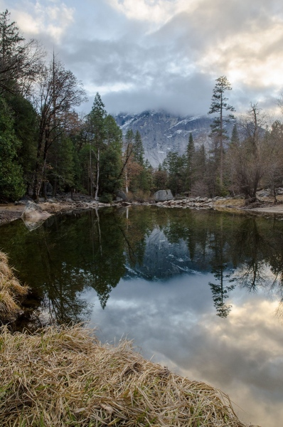 Mirror Lake, Yosemite National Park , California, January 2020