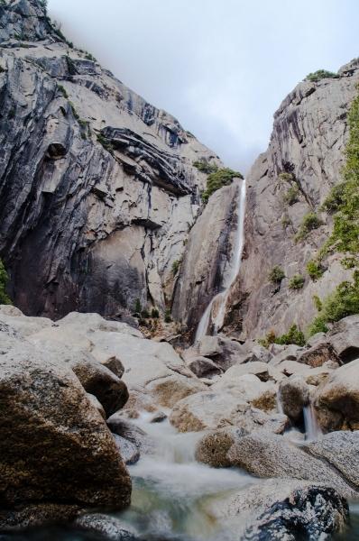 lower Yosemite falls, California, America, Winter 2020