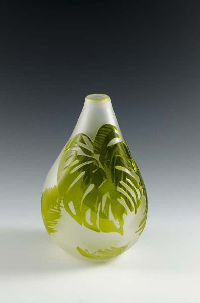 Glass vase by Beth Antliff